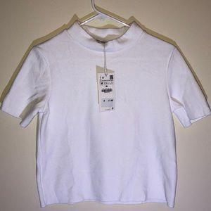 NWT women's soft touch mock neck t-shirt